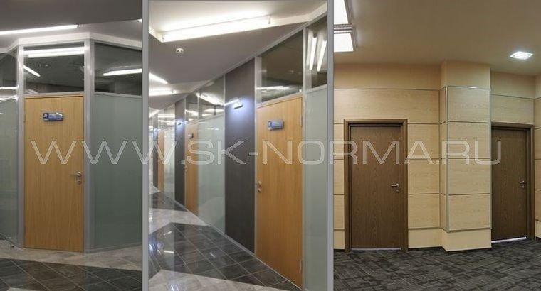 Офисные двери - Распашные Деревянная коробка + глухое полотно