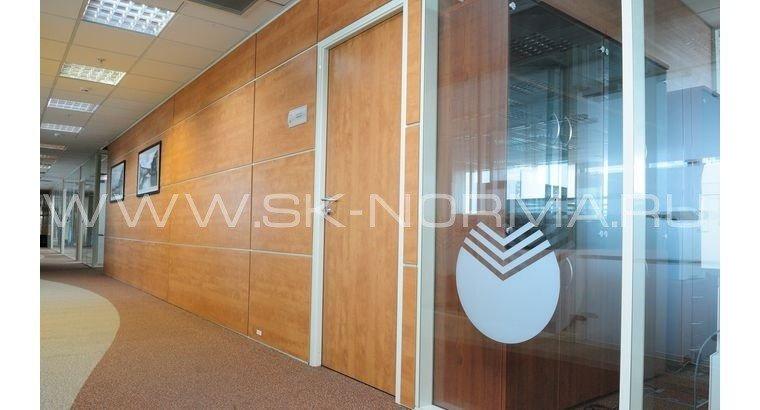 Офисные двери - распашные AL коробка + глухое полотно