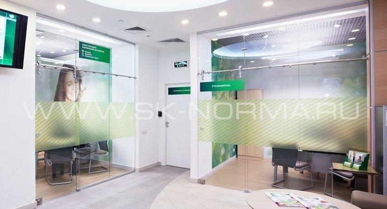 Офисные двери - раздвижные - цельностеклянное полотно