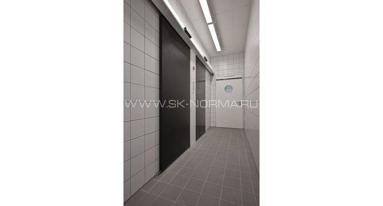Офисные двери - электромеханические - глухое полотно